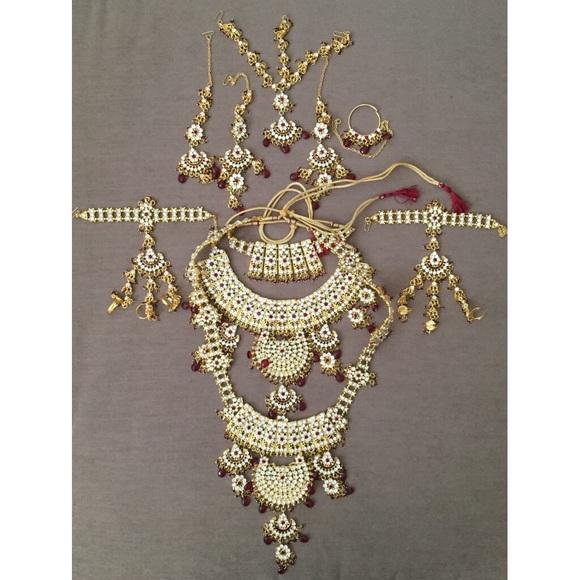 Jewelry 10piece Indian Wedding Bridal Costume Set Poshmark